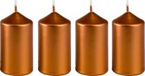 Sviečka adventné 40x75 mm - metalická bronz - 4 ks