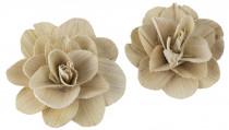 Dekorace - Betal Rose 8 cm bělené - 2 ks