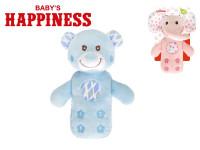 Zvířátko s chrastítkem/telefon plyš 19cm Baby´s Happiness 0m+ na kartě - mix variant či barev