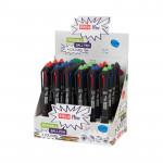 Easy Flow 4colours 24 ks Prepisovateľné pero Gumovacie, 4 farby S923464