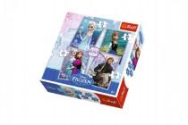 Puzzle 4v1 Ľadové kráľovstvo / Frozen