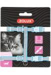 Postroj kočka SHINY nylon modrý Zolux