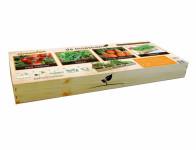 Set ZAHRADA V KUCHYNI - ZELENINA dřevěný + osivo 4ks