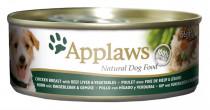 Applaws Dog konz. kura, hovädzia pečeň a zelenina 156 g