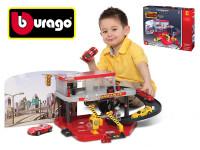 Bburago 1:43 Ferrari Race & Play Auto Service Centre + auto