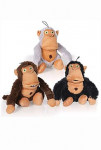 Hračka pes Crazy monkey šedá 36cm