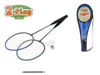 Badmintonové rakety 66 cm 2-Play 2 ks s košíčkem v tašce