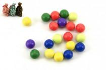 Guličky cvrnkací nerozbitné 20ks 1,5 cm v látkovom vrecúšku - mix farieb