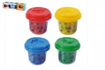 Plastelína / Plastelína v tégliku 4x56g mix farieb