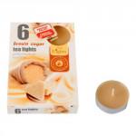 svíčka čajová vonná HNĚDÝ CUKR (6ks) (hoří 6x3-4hod)