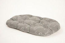 Vankúš ovál Kosť šedo / biely (bavlna) 80 cm