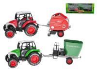 Traktor kov s vlečkou 27 cm zpětný chod - mix variant či barev