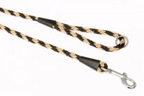 """Vodítko textil lano """"Špirála"""" čierno / béžovej B & F 1,00 x 150 cm"""