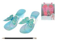 Střevíčky pro princeznu plast 19cm - mix barev