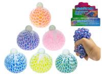 Loptička sieťkový strečový s guličkami 7 cm - mix farieb