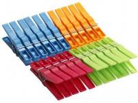 štipce na bielizeň plastové, 20 + 2 zadarmo - mix farieb