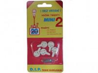 háčik tw. mini II plastový, Bi (5ks) 1104 (7015)