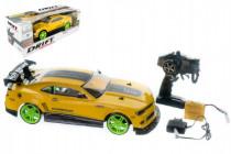 Auto RC drift žluté plast 40cm 27MHz na baterie + dobíjecí pack
