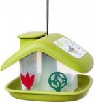 Kŕmidlo pre vonkajšie vtáctvo Domek - zelená