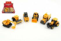 Auto stavební mini kov/plast 8cm volný chod - mix variant či barev