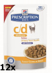 Hill's Prescription Diet Feline C/D kaps. Salmon 12 x 85 g - VÝPREDAJ