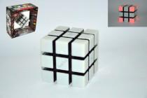 Rubikova kostka hlavolam plast 6 her na baterie se zvukem se světlem