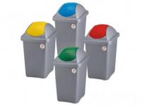 kôš odpadkový výklopný MULTIP 60l štvorcový ŠE / ŽL plastové veko