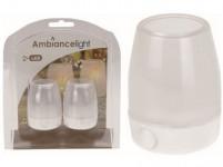 sviečka čajová LED pr.6,5cm Bi (2ks) s batériami