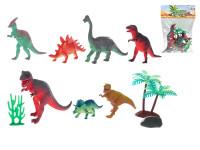 Dinosaury 7 ks 10-17 cm s doplnkami