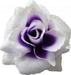 Ruže látková - bielofialová - 24 ks