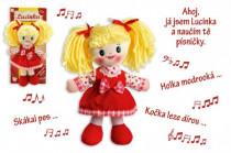 Bábika Lucinka handrová plyš 30 cm česky spievajúci