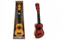 Kytara 4 struny (ocelové) + trsátko plast 54cm - mix barev