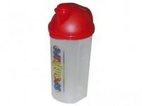 šejker 700ml plastový, s potlačou, viečko - mix farieb