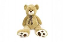 Medvěd s mašlí plyš 130cm béžový