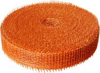 Jutová stuha 4 cm x 25 m - oranžová