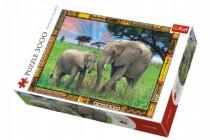 Puzzle Savana Slony 3000 dielikov 116x85cm