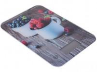 váha kuchynská plochá 5kg digitálne, tvrz. sklo, KUCHYŇA - mix variantov či farieb