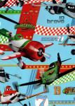 Balicí papír dětský 2mx70 cm, Letadla/Planes - tyrkysový, DITIPO