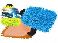 rukavice čistiace mikrovlákno ženilka - mix farieb
