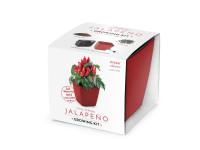 Vypestujte si Jalapeno, darčeková sada sa samozavlažovacím kvetináčom, ČERVENÝ 13x13 CM, Domestic