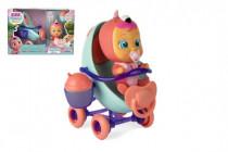 CRY BABIES Magické slzy plast bábätko s kočíkom 16cm s doplnkami