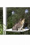 Odpočívadlo mačka okenné 51,5x31x2,5cm šedej KAR 1ks