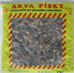Piesok akváriový Akva č.10 - prírodný 3 kg  4 - 6 mm