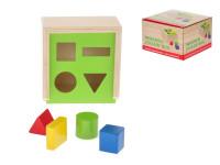 Vkládačka dřevěná různé tvary 12x12x7,2 cm