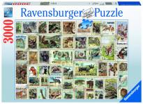 Zvieracie známky; 3000 dielikov