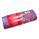pytle na odpadky s uchy 60l (18ks) 60x72cm s aroma LEVANDULE 10µ