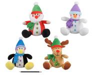 Postavička plyšová 25 cm vánoční - mix variant či barev