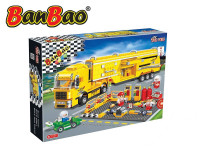 BanBao stavebnice Turbo Power servisní nákladní vozidlo 660 ks + 4 figurky ToBees