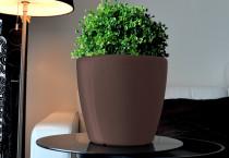 Samozavlažovací kvetináč GreenSun AQUAS priemer 28 cm, výška 26 cm, hnedý