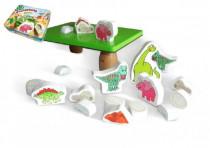 Balančné hra Prehistoric pre najmenších drevo v plechovej krabici
